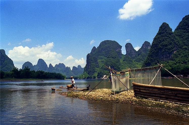 Der Li Fluss in Guilin