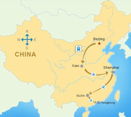 map of Ostchina und Yangtse